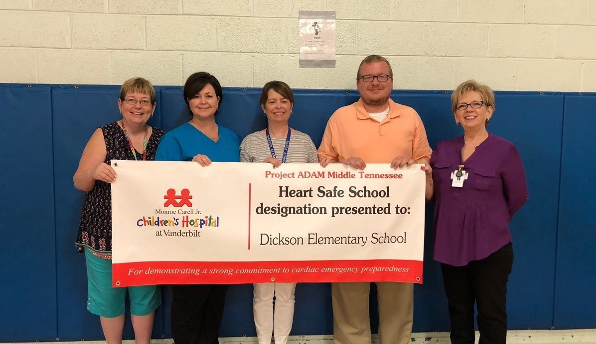 Dickson Elementary proud to be a heart safe school.