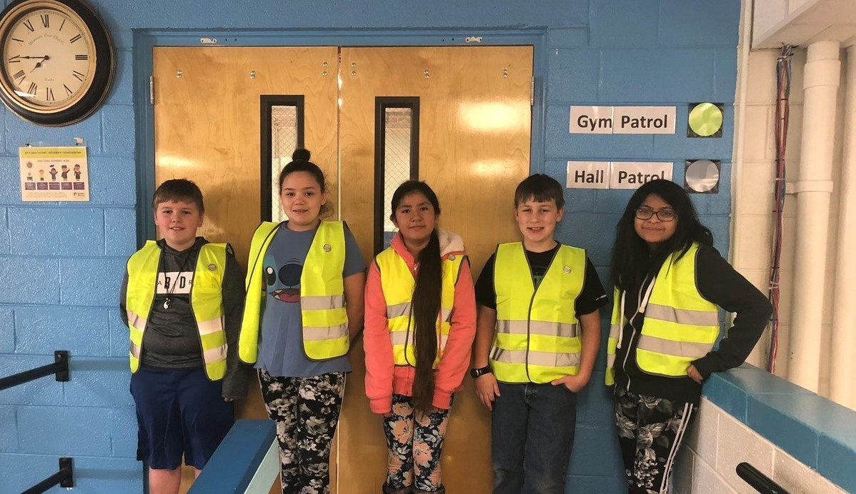 Dickson Elementary safety patrol team.