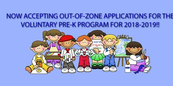 Pre-K Out of Zone Applications Accepted