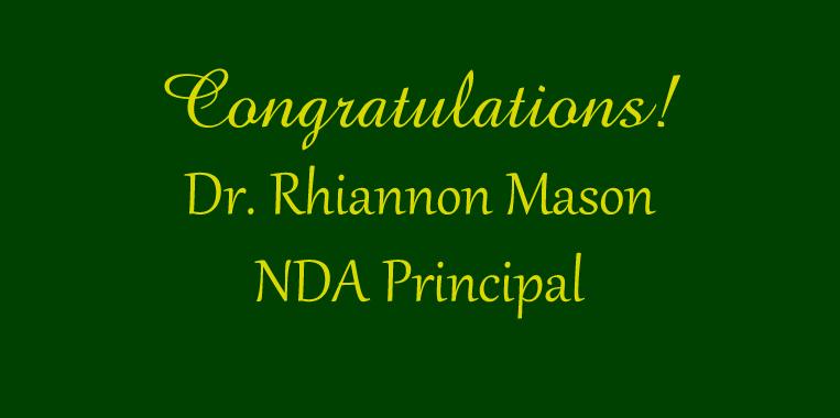 Rhiannon Mason - NDA Principal