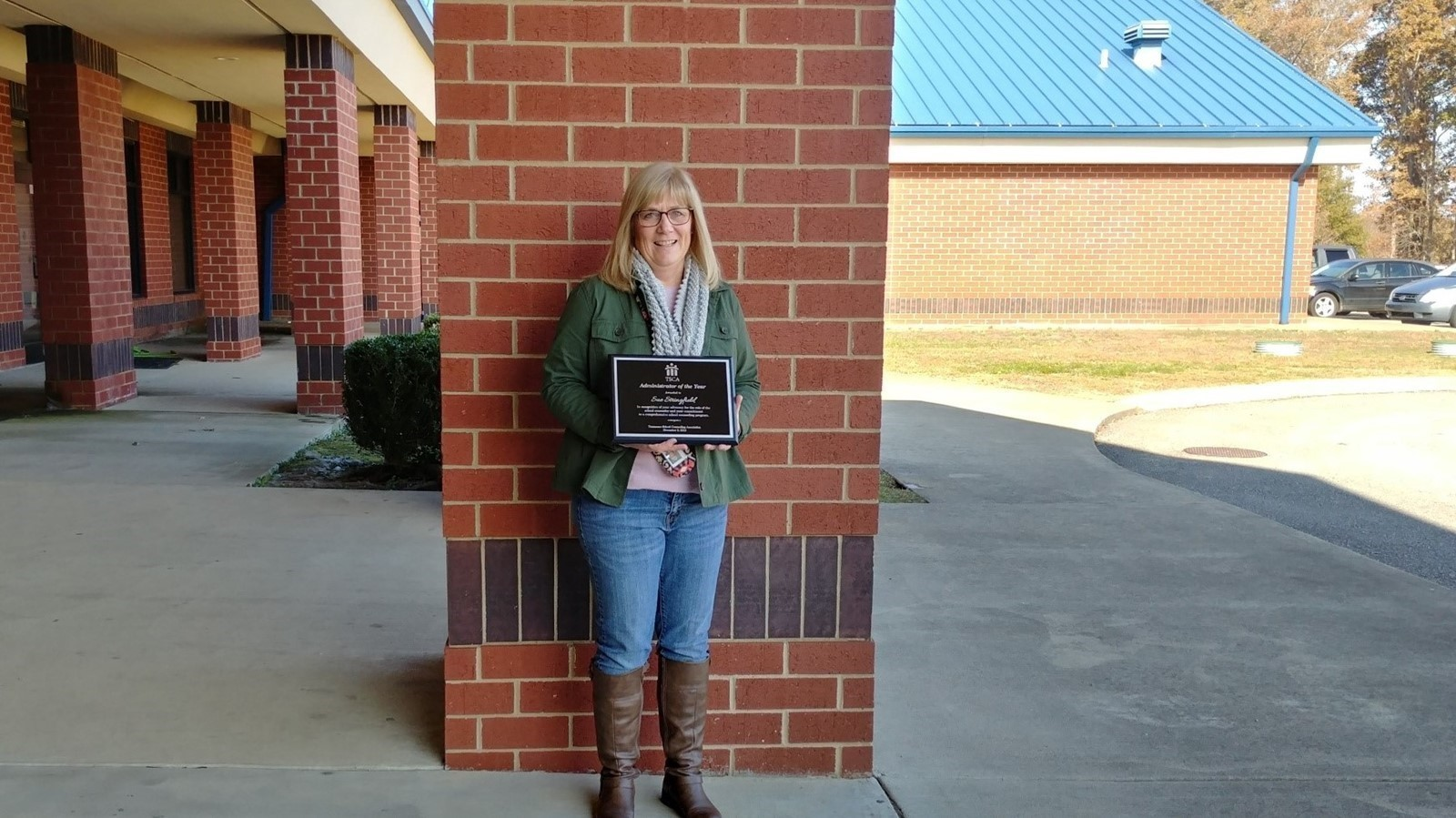 Principal Sue Stringfield - Award For Administrator Of The Year