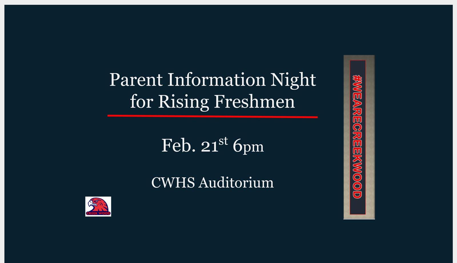 Rising Freshman Parent Night