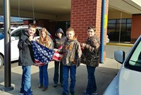 Student Council with Flag