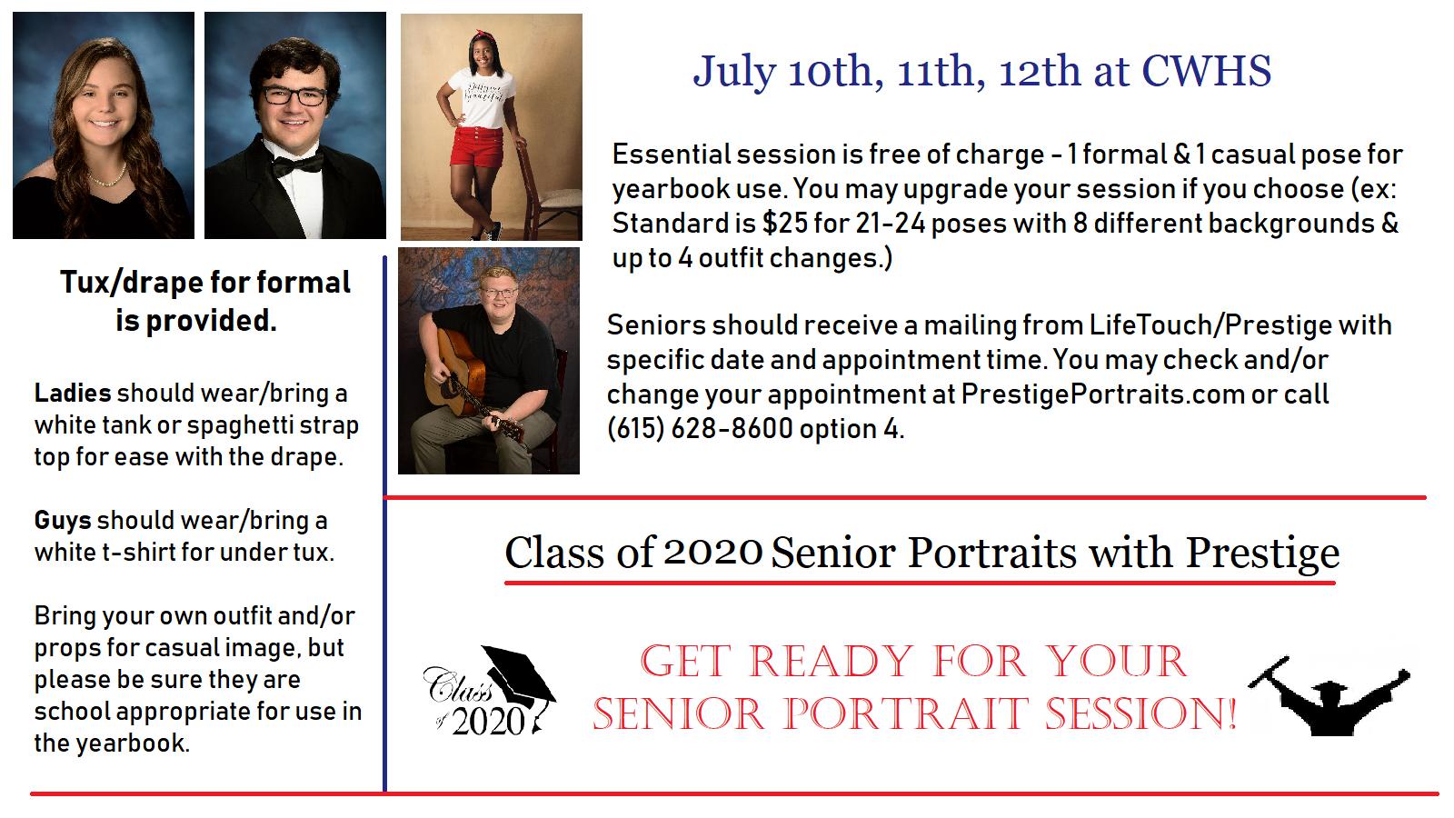 Class of 2020 Senior Portraits