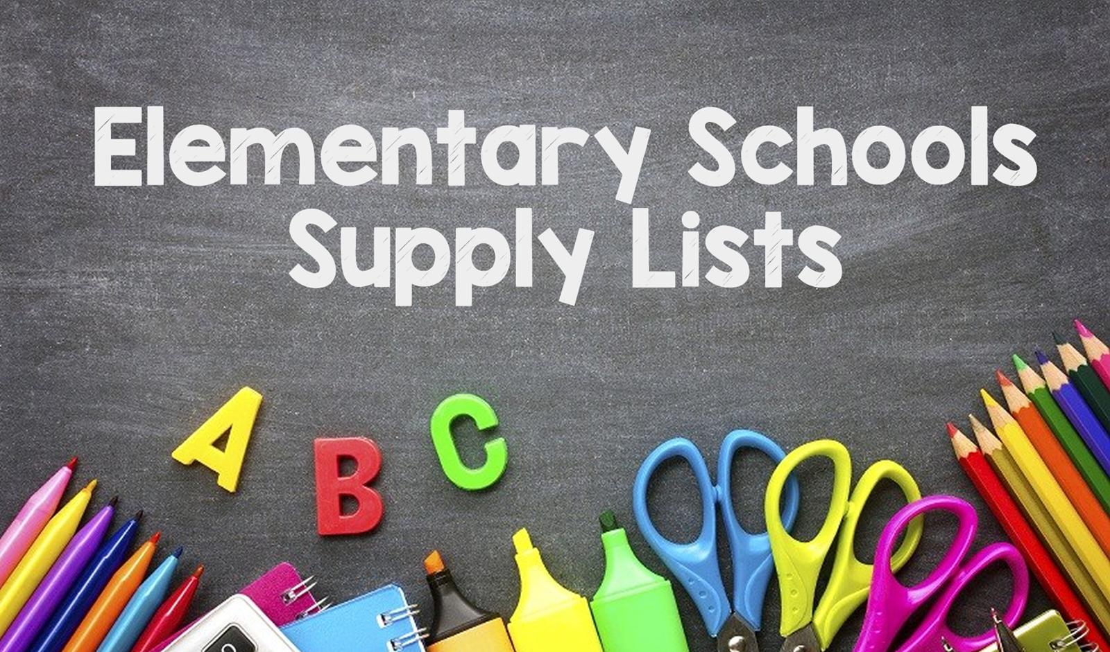 Elementary Schools Supply Lists