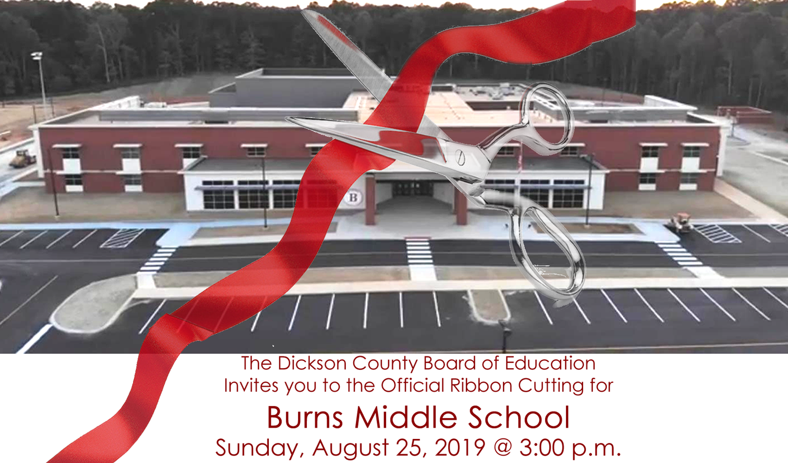 Burns Middle Ribbon Cutting