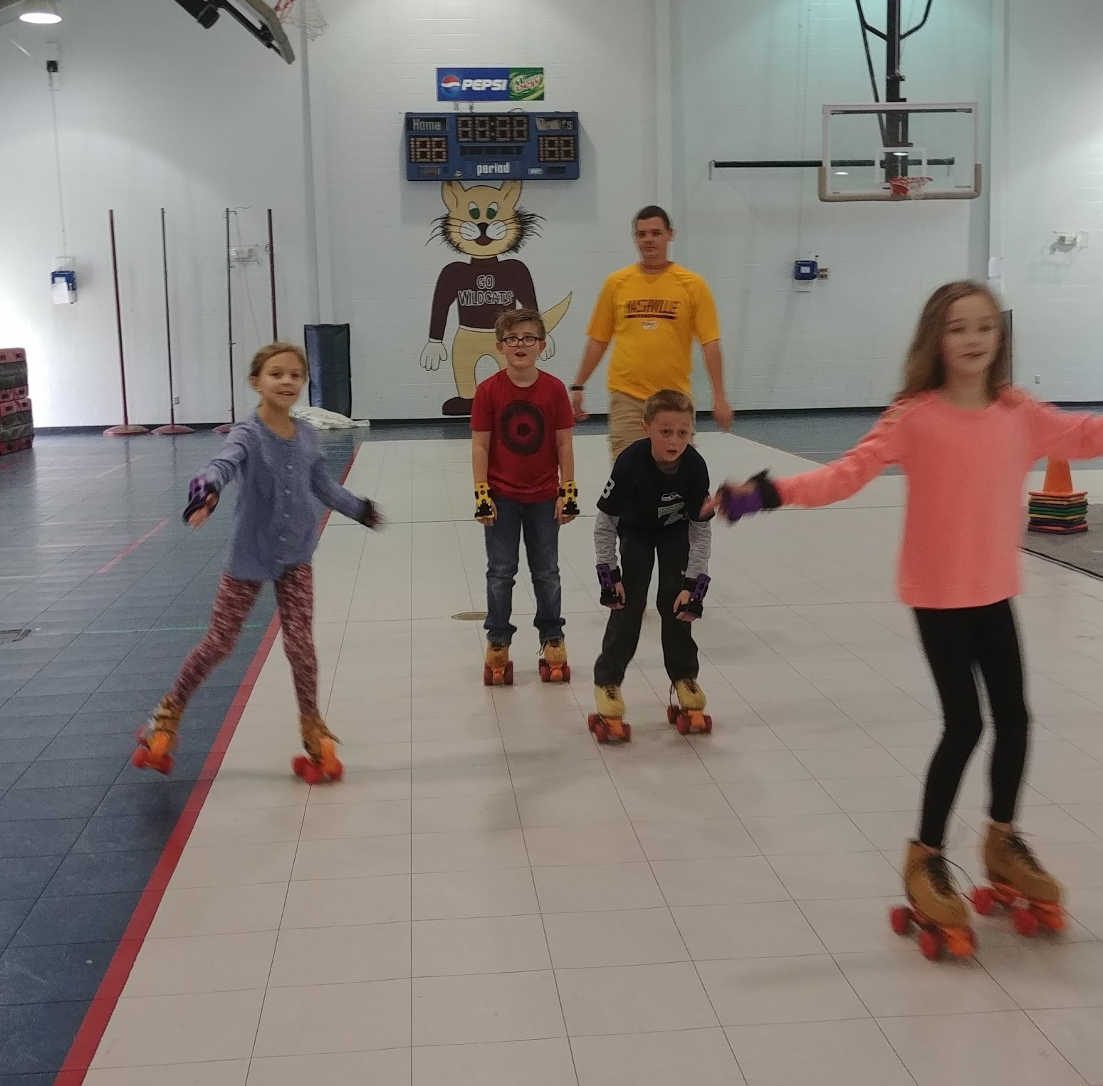 Skating in Gym