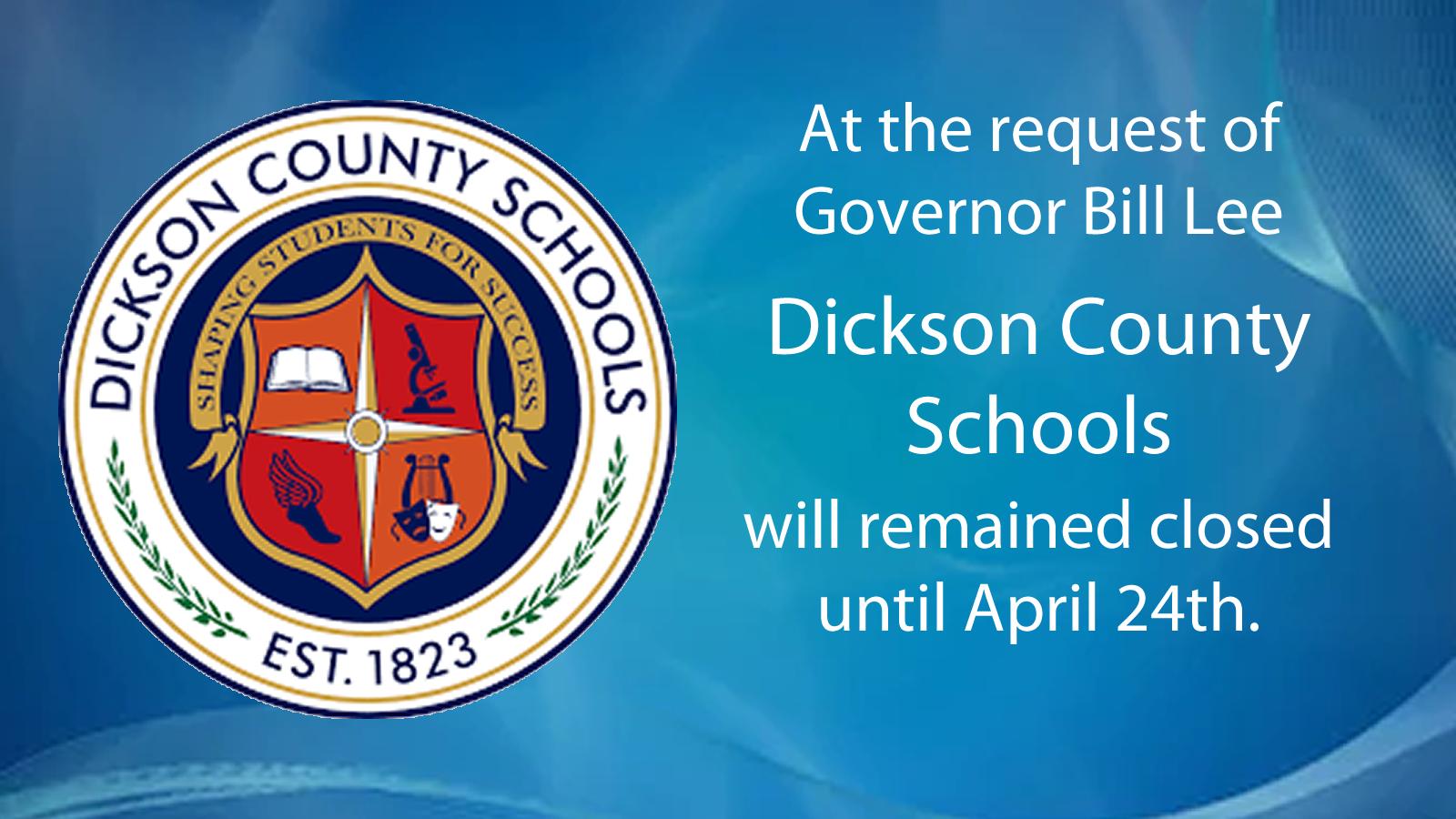Schools closed until April 24th