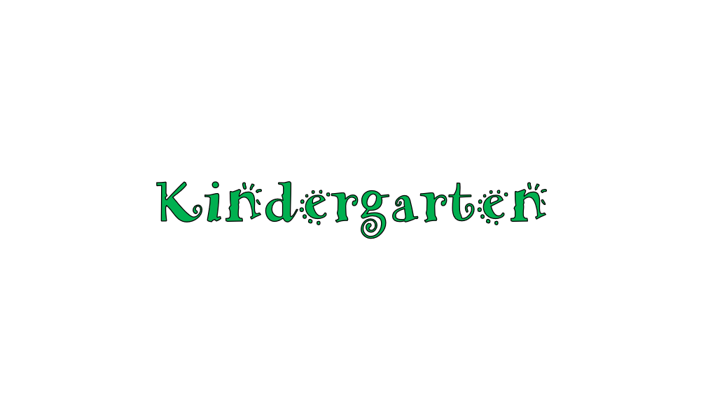 Kindergarten Online Learning