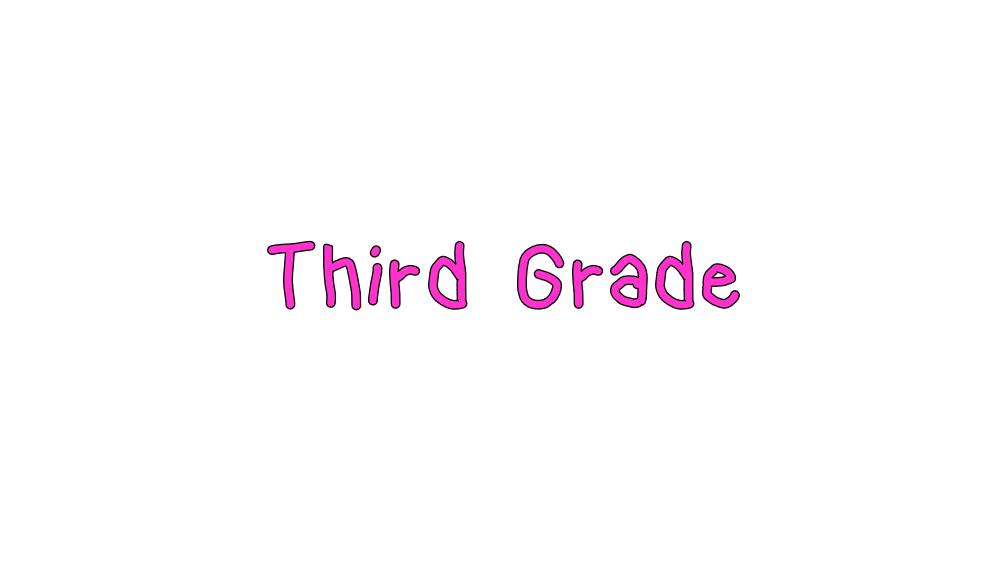 Third Grade Online Learning