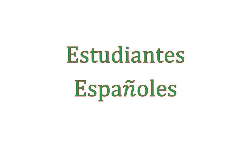 Estudiantes Espanoles