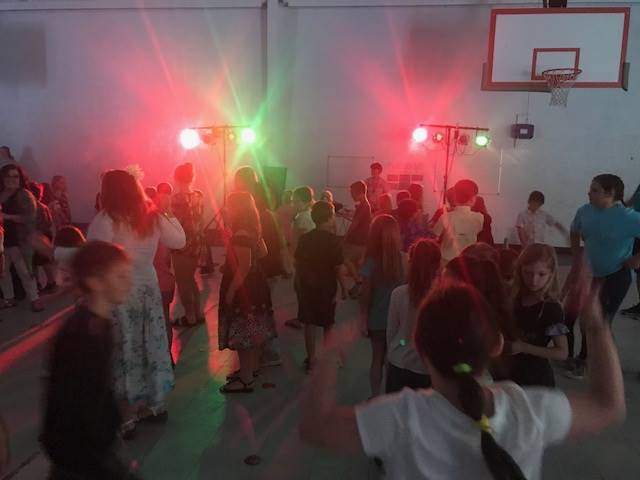 Dance for those with perfect attendance during testing 2019