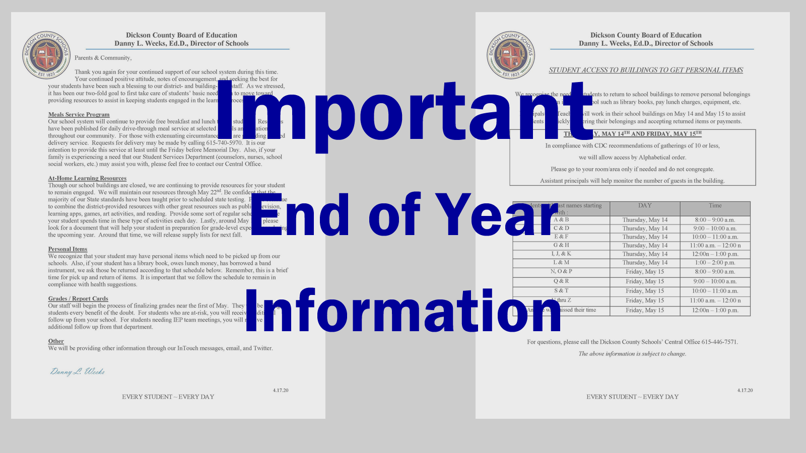 2020 End of Year Information