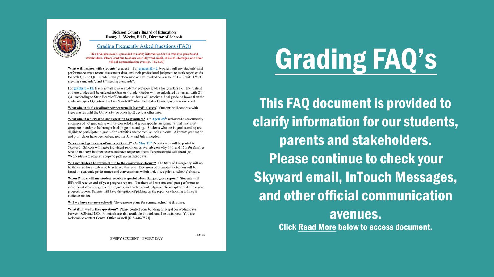 Grading FAQ's