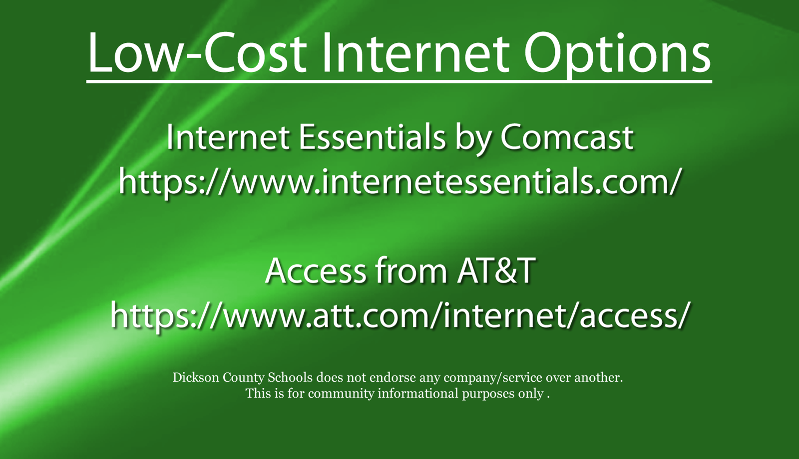 Low-Cost Internet Options