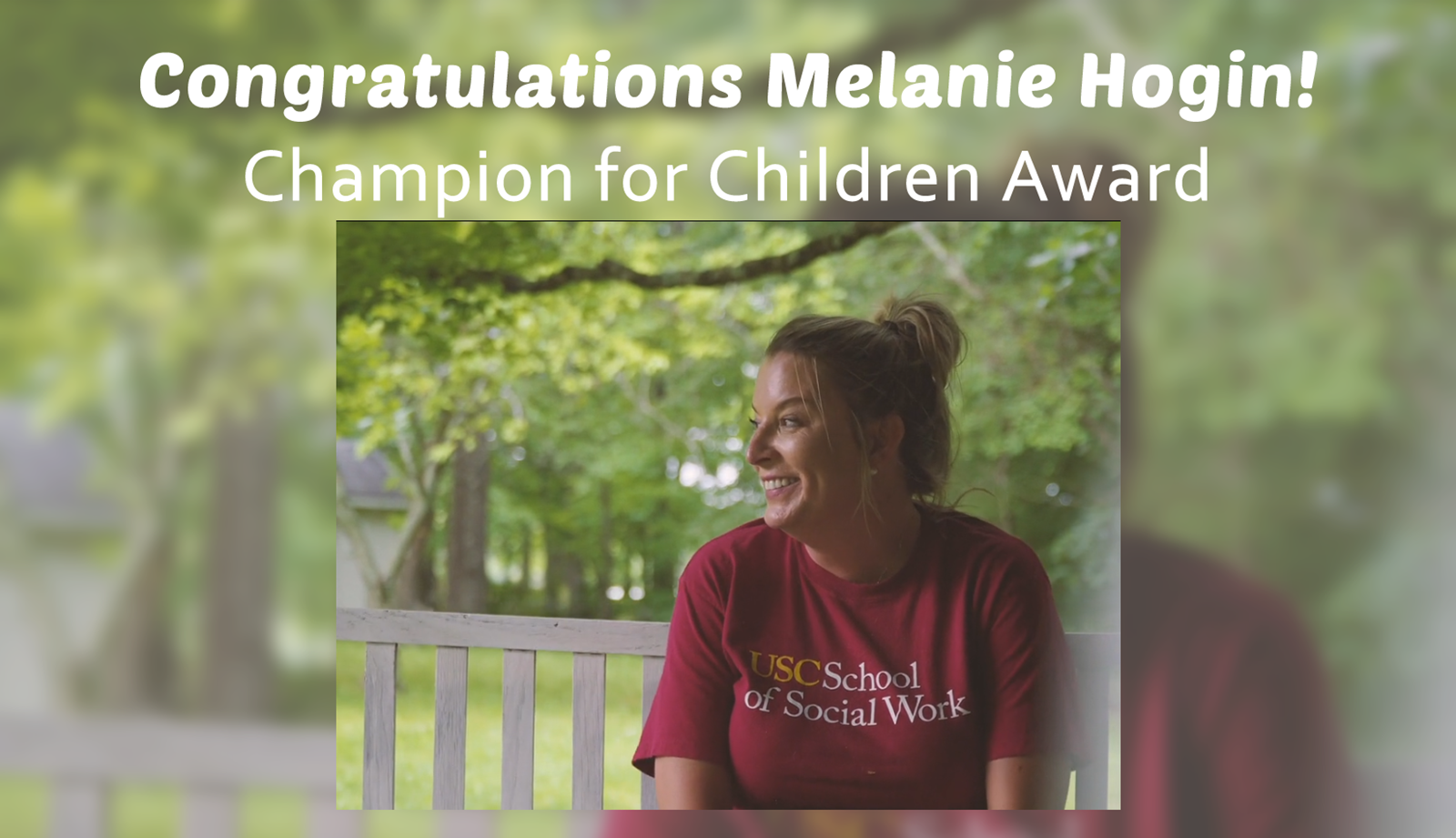 CASA Award - Melanie Hogin