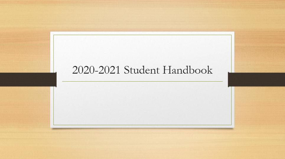 Student Planner and Handbook