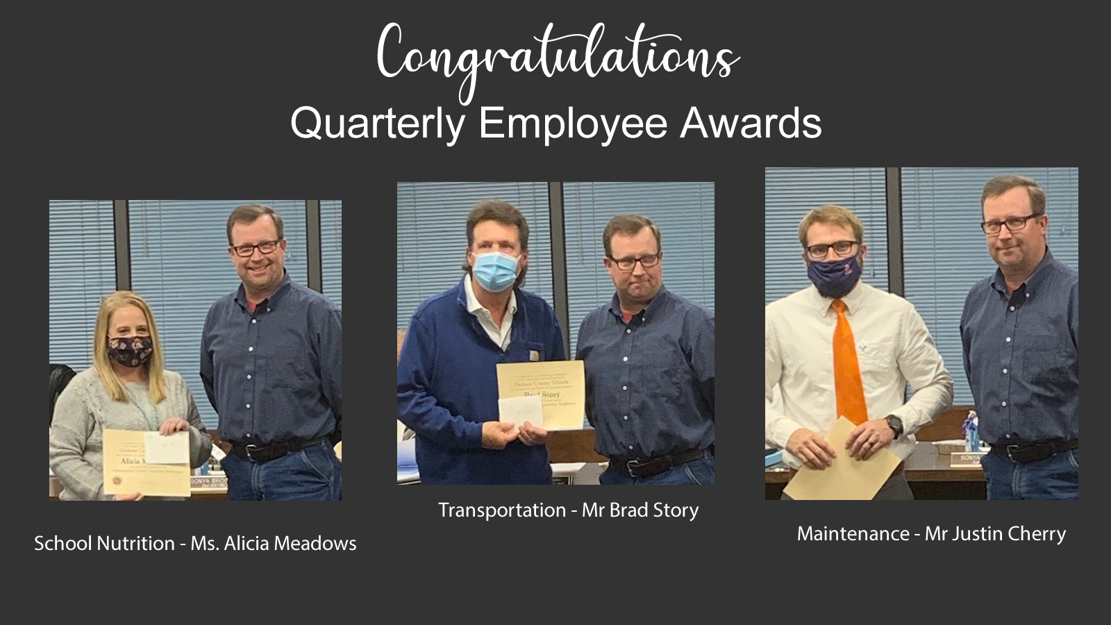 Quarterly Employee Awards