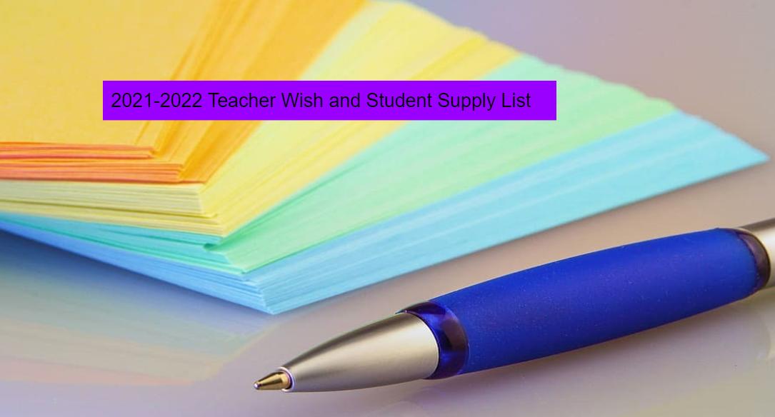 2021-2022 Supply List