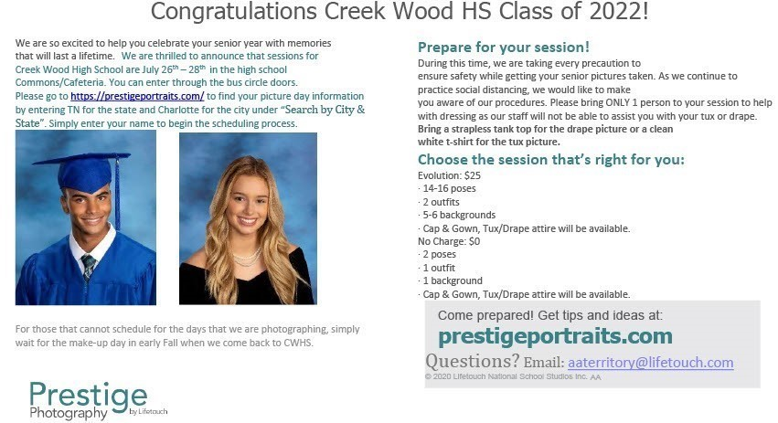 Class of 2022 Senior Picture Information
