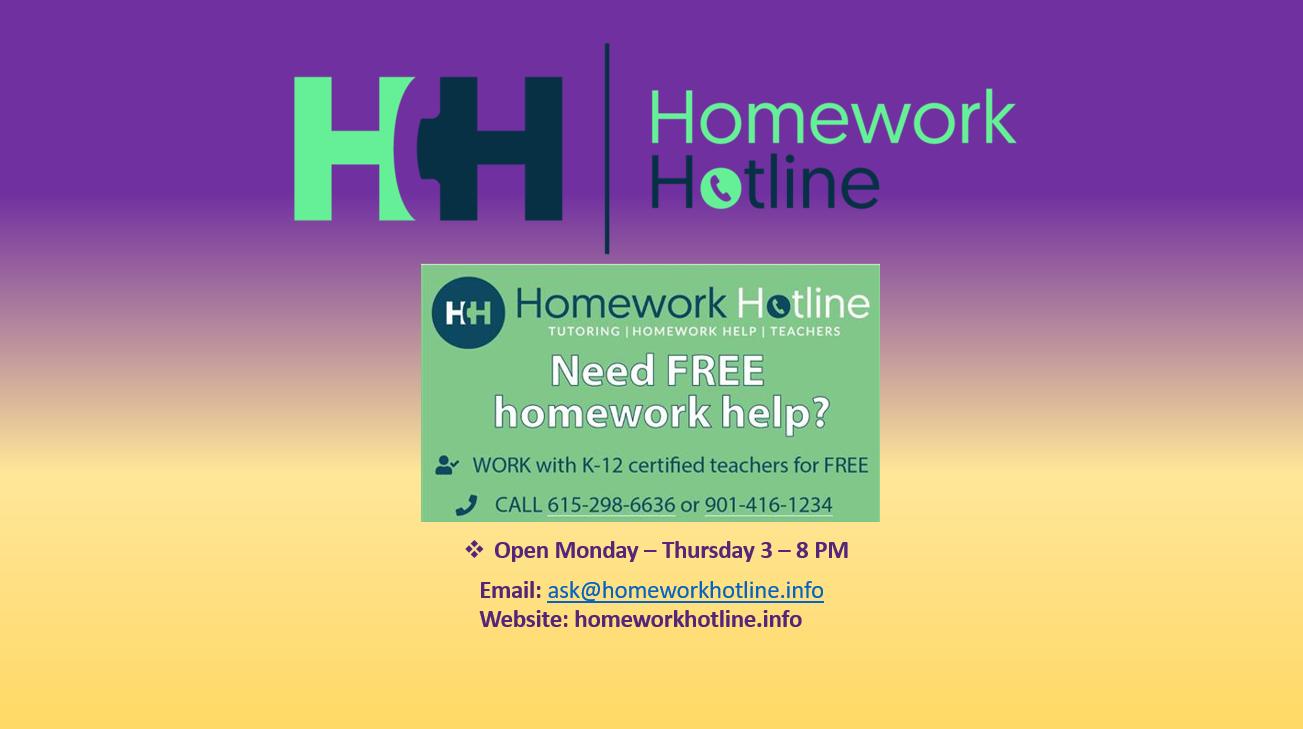 Homework Hotline!!!