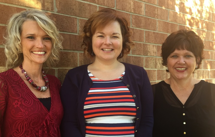 Anna Harris, Assistant Principal; Misty Hodge, Principal; Anita Hartsfield, Instructional Coach